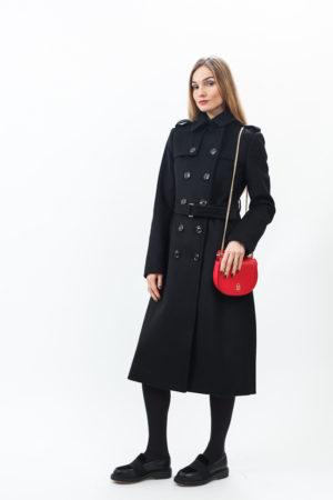 Женское двубортное пальто и сумка Патриция Пепе (Patrizia Pepe)
