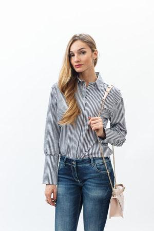 Женская рубашка, джинсы и сумка Патриция Пепе (Patrizia Pepe)