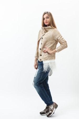 Женский кардиган, блуза, джинсы и сумка Патриция Пепе (Patrizia Pepe)