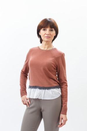 Женский джемпер Каппелини (Cappellini) брюки Песерико (Peserico) туфли Лелла Балди (Lella Baldi)